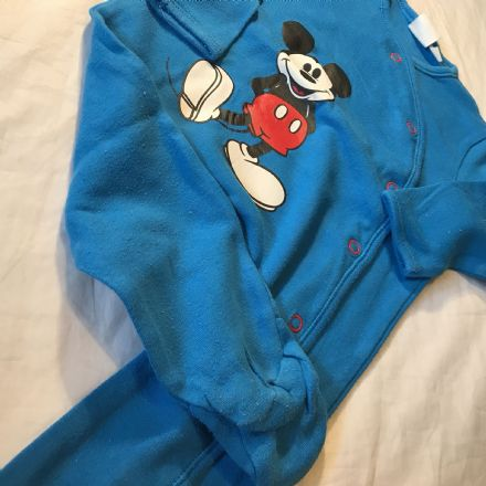 0-3  Month Mickey Sleepsuit